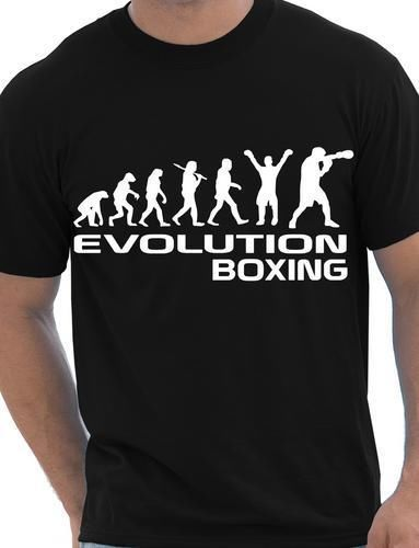 Evolution Of Boxinger Boxer Sporter Mens T Shirt Gift Size S-XXL