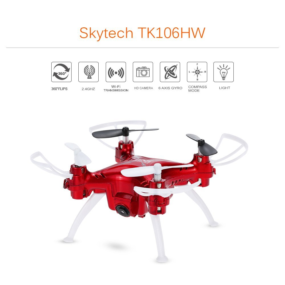 Mini FPV Wifi Headless Drone w 2 0MP Camera Live Video Skytech TK106HW 4CH 6 Axis