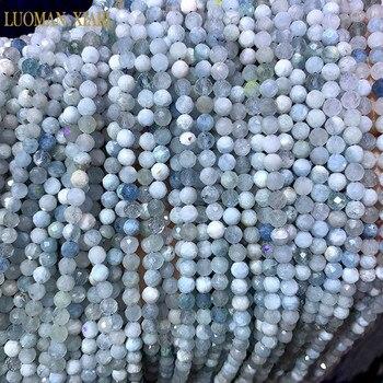 Бисер из 100% натурального камня AAA, аметист, розовый, кварцевые, турмалиновые топазы, граненые шарики для самостоятельного изготовления ювелирных изделий, браслет, ожерелье