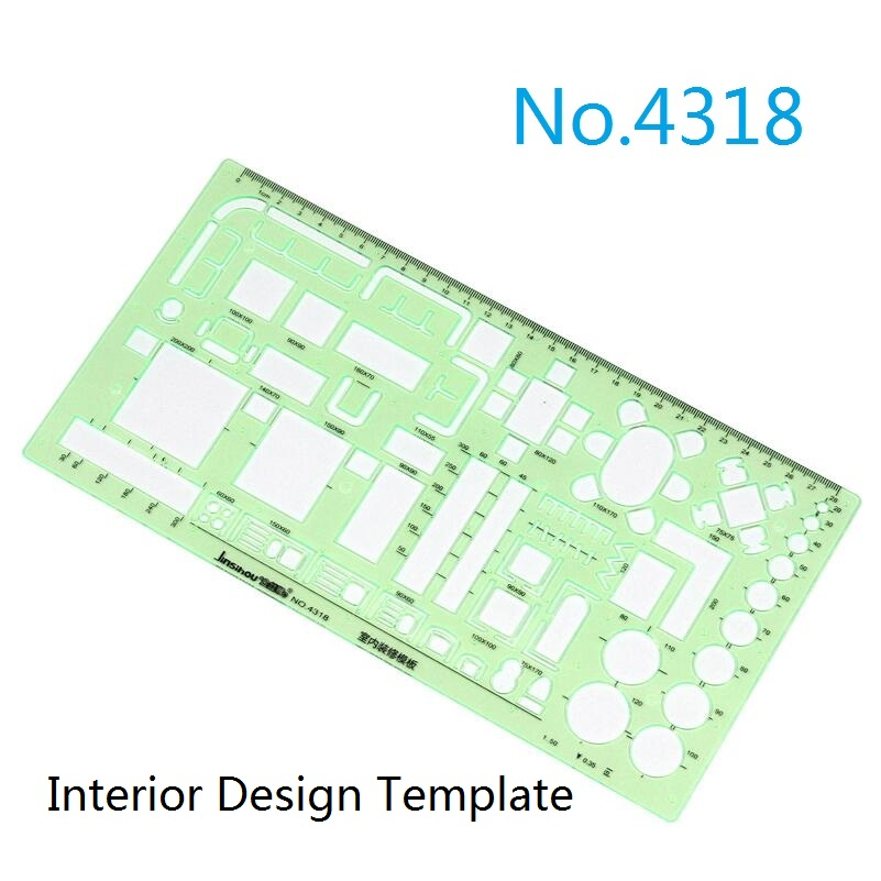 Aliexpress Buy Drawing Templates Ruler For FurniturePower EngineeringInterior DesignNut Design No4301 4302 4318 4331 4332 4333 From Reliable