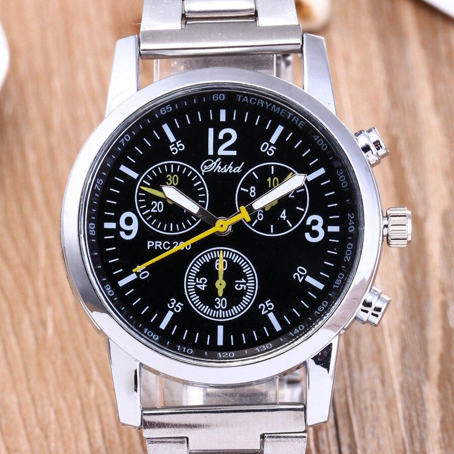 Men Quartz Watch Luxury Brand Business Stainless Steel Fashion Neutral Analog Wristwatch Steel Band Watch 4