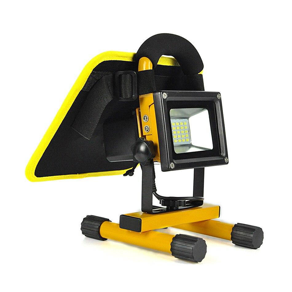 BORUiT 10W 20 LED Solar Floodlight Portable Spotlight Work Emergency Lighting Outdoor Camping Night Travel Riding Lamp