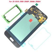 100% Probados de Trabajo libre AMOLED Pantalla LCD Asamblea de Pantalla Táctil Para Samsung Galaxy J5 2015 J500 J500F J500FN J500H J500M 20 pins