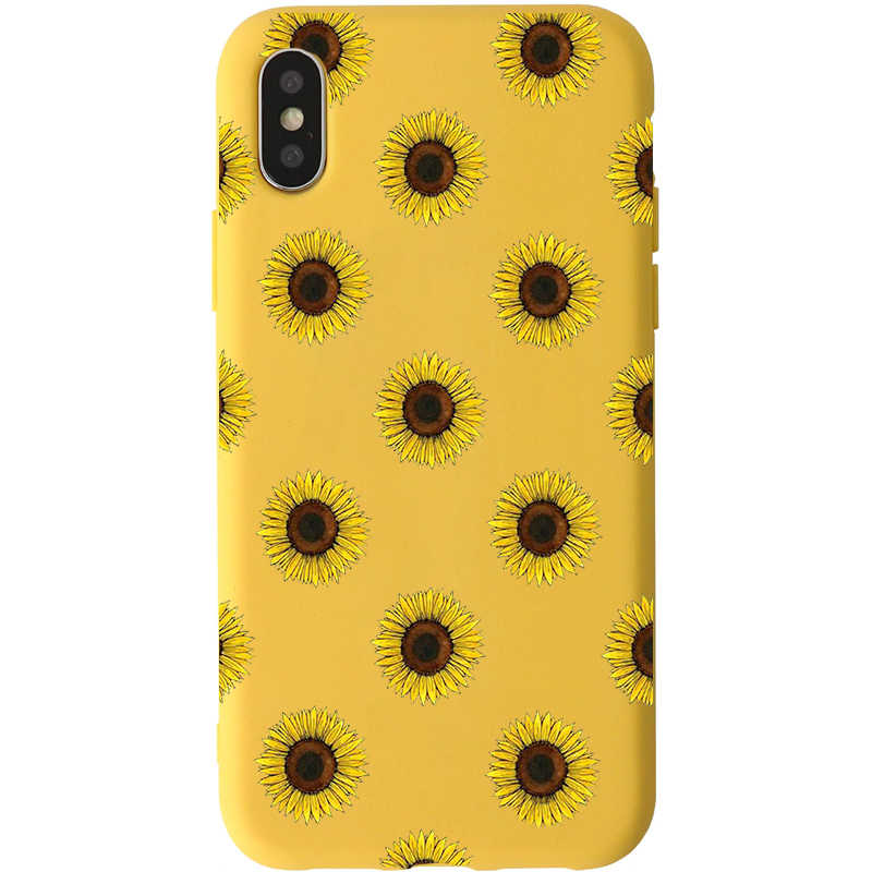 huge discount 9d2a8 4bd78 Cute Summer Daisy Sunflower Floral Flower Soft yellow Phone Case Fundas  Coque For iPhone 7 7Plus 6 6S 8 8PLUS X XS Max