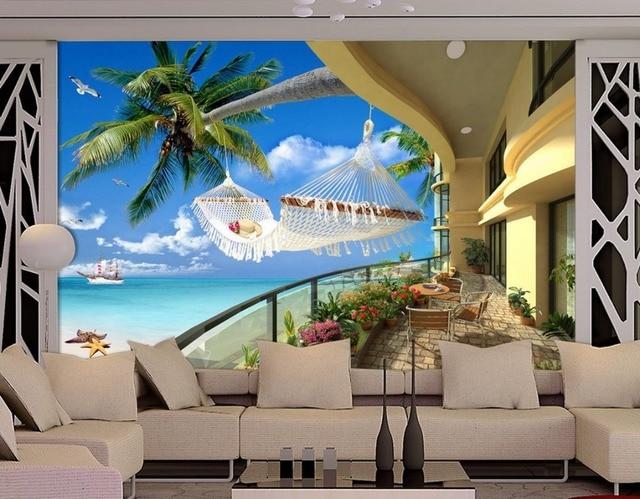 Vlies Tapete Landschaft Tapeten Wandbilder Meer Baum D Tapete Fur Moderne Wohnzimmer Wandmalereien