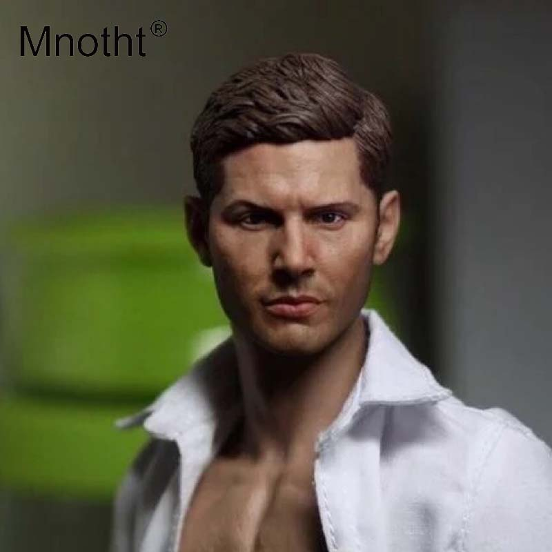 Mnotht Head Carving Models 1:6 Scale supematural Dean Winchester Head Sculpt For 12in Action Figures Toys Collections m3 1 6 scale american president john fitzgerald kennedy head sculpt for 12 inches mens bodies dolls figures toys gifts collections