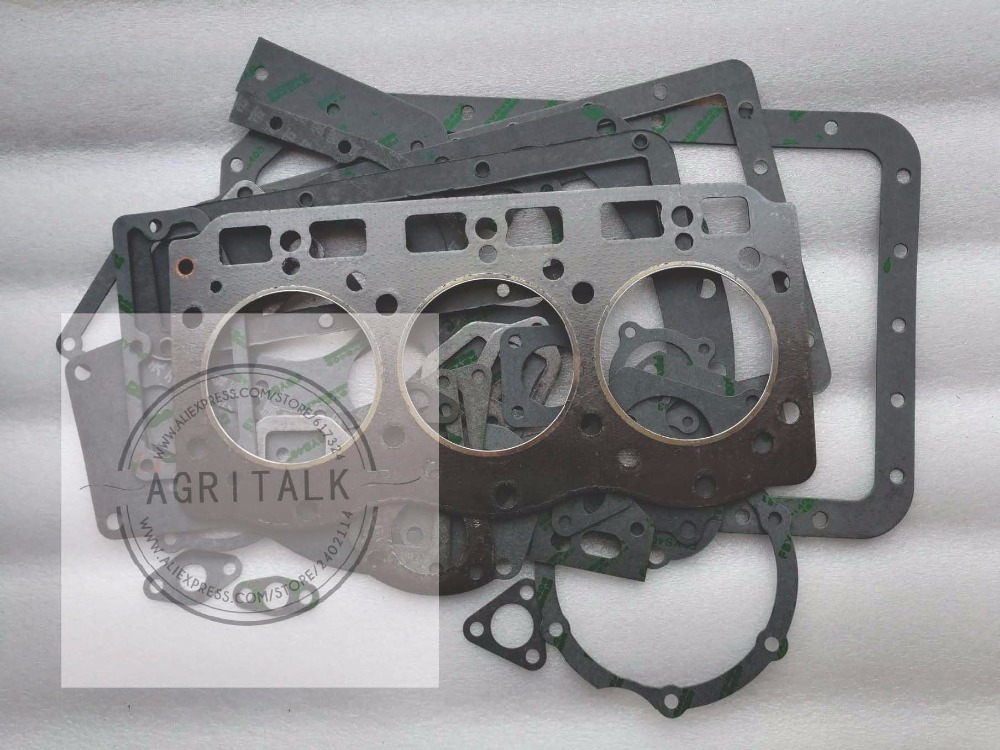 SL3105ABT EPA (7FJLL3.04ABT), the set of head gaskets kit including the head gasket, part number: changchai zn485t for tractor use the set of gaskets including the head gasket as showed