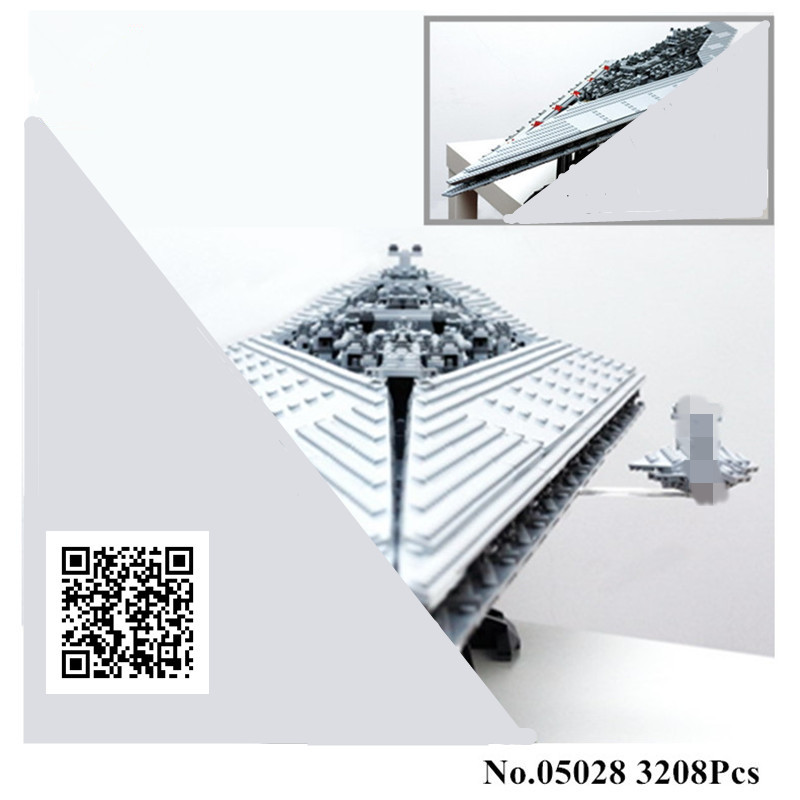 H&HXY IN STOCK 3208PCS 05028  Building Blocks Imperial Star Destroyer LEPIN Model action wars Bricks Toys Compatible 10221 lepin 05028 3208pcs star wars building blocks imperial star destroyer model action bricks toys compatible legoed 75055