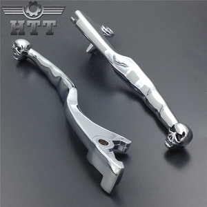 Image 2 - Aftermarket free shipping motorcycle parts Chrome Skull Brake Clutch Lever For Suzuki Marauder Volusia 800 Boulevard C50 M50