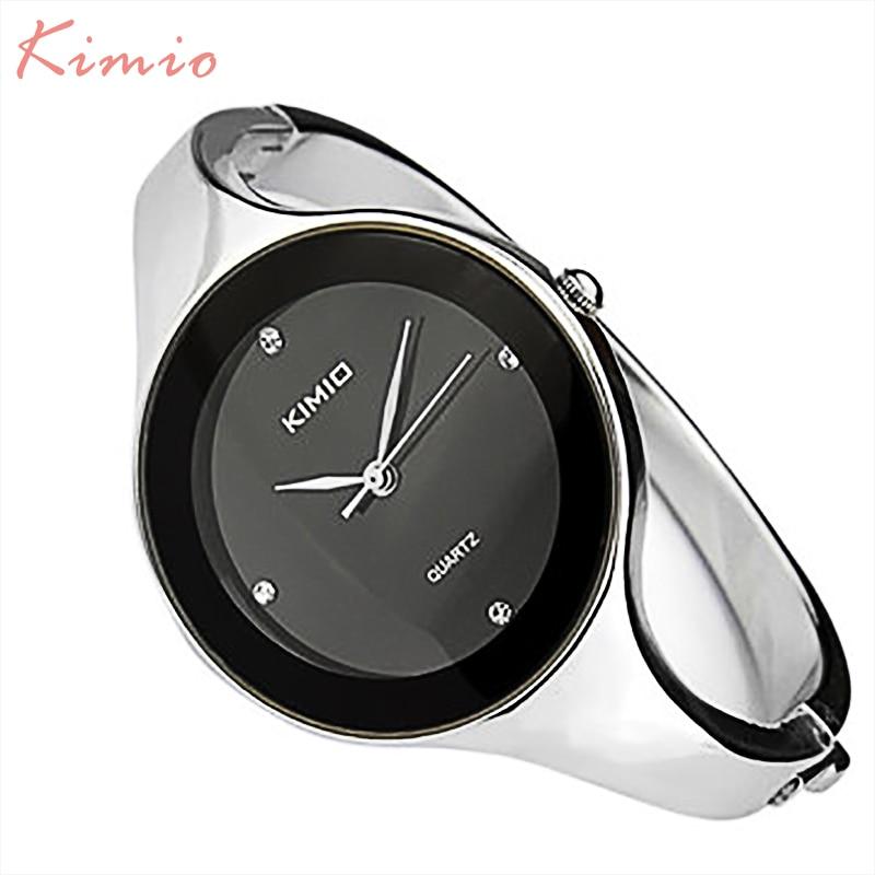 KIMIO Simple Ladies Bracelet Diamond Woman Watches Quartz Watches Women Fashion Watch 2016 Brand Women s
