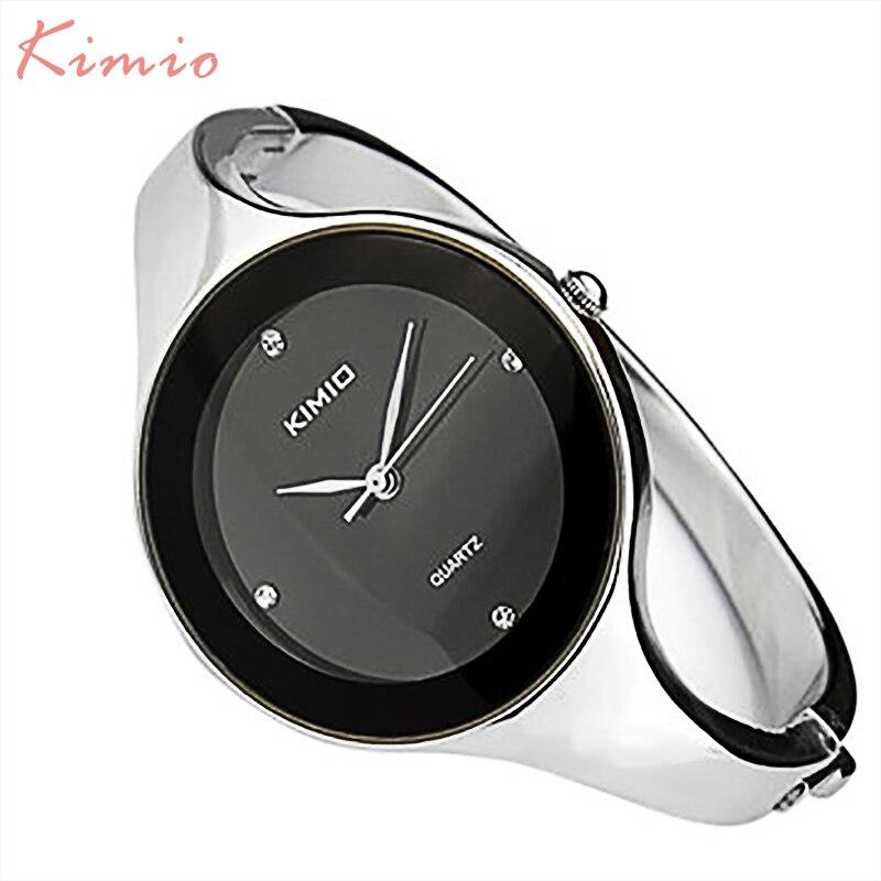 Prix pour Kimio simple dames bracelet diamant femme montres quartz montres femmes montre de mode 2017 de marque femmes montres pour femmes horloge