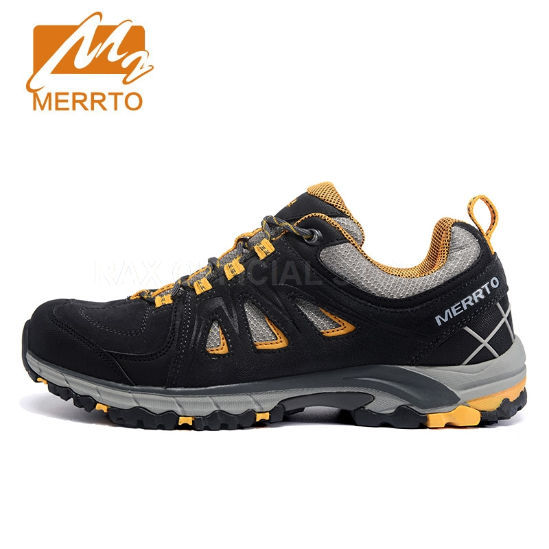 Merrto Hiking Shoes Men Suede Leather Women Trekking Shoes Breathable Sneakers Climbing Mountain Shoes Women Men Hiking Boots merrto women waterproof hiking shoes for women sneakers breathable women trekking walking shoes waterproof mountain boots female
