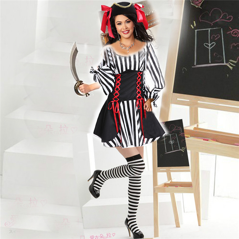 halloween costume for women sexy striped pirate set japanese uniform temptation anime cosplay costumeschina - Pirate Halloween Costume For Women
