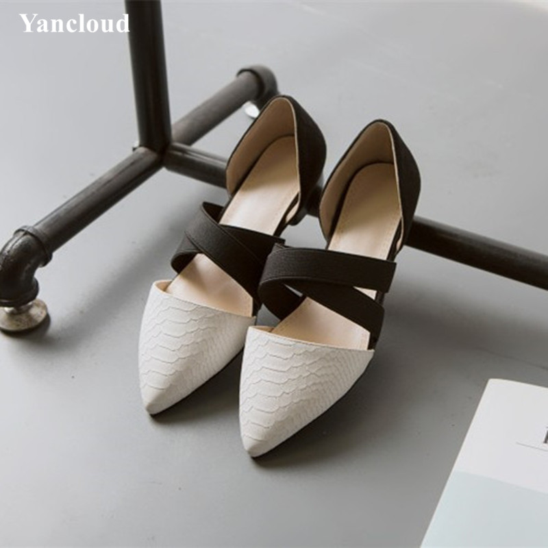 New 2017 High Quality Women's Shoes Spring Summer Breathable Pointed Women Flats Kitten Heel Office Shoe new hot spring summer high quality fashion trend simple classic solid pleated flats casual pointed toe women office boat shoes