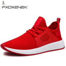 Pánské sportovní fitness boty FXDXENEK New Simple Men Running Shoes Spring Summer Breathable Mesh Boy Red Sneakers Male Outdoor Sport Light Trainers Walking
