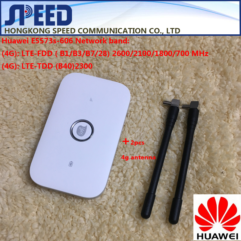 Unlocked Huawei E5573 E5573s-606 CAT4 150M 4G WiFi Router Wireless Mobile WiFi +2pcs 4g antenna