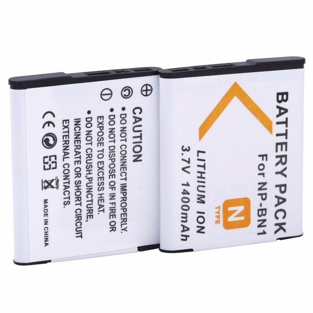 2 unids probty NP-BN1 NPBN1 NP BN1 batería para Sony Cybershot DSC TX9 T99 WX5 TX7 W390 W380 W350 W360 QX100 W370 W730 Cámara