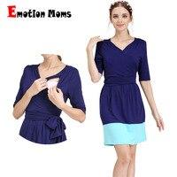 Emotion Moms Summer Autumn Fashion pregnancy Maternity Clothes Modal Nursing pregnant dress for Pregnant Women maternity dresses