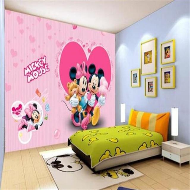 beibehang 3d large wall mural wallpaper HD Pink Princess Children room cartoon art world backdrop custom silk photo wallpaper