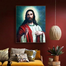 Jesus Christ Christian Famous Canvas Painting Calligraphy Art Home Decor Wall Picture for Living Room Church