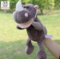 Младенческая Дети Стороны Марионеточных Носорога активным рот дети ребенок плюшевые Мягкие Игрушки Куклы игрушки Рождество подарок на день рождения