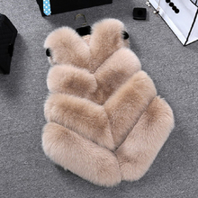 ZADORIN Gilet en fausse Fourrure de renard pour femmes, luxe, grande taille, manteau en fausse Fourrure, court, automne hiver