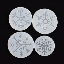 Silicone Mold snowflake charms pendant Resin Silicone Mould DIY handmade Jewelry Making epoxy resin molds acryl resin snowflake christmas ornament jewelry vintage christmas resin snowflake 17cm x 4pcs