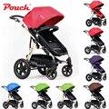 Edição de luxo pouch alta paisagem carrinho de bebê de quatro-way carrinho de bebê/crianças folding carrinho de criança pode sentar ou deitar multifunções carrinho de criança