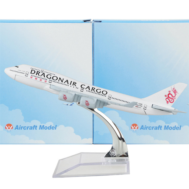 Hong Kong Dragon Airlines Boeing 747 16cm Airplane Child Birthday Gift Plane Models Toys Free Shipwping