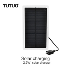 TUTUO 2.5W Solar Panel Module Polycrystalline Cell Mobile Phone USB Chager for DIY IPhone, Samsung Galaxy S7 Xiaomi Power Bank