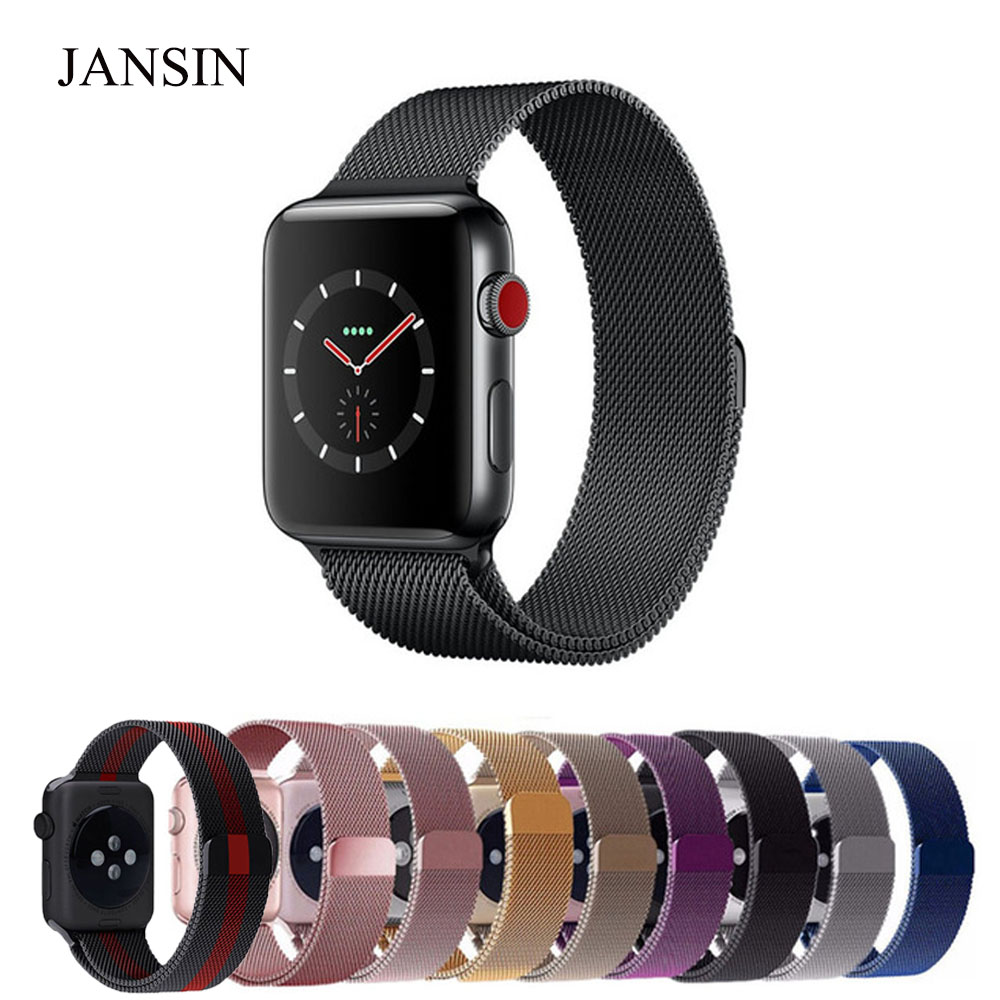 Milanese Loop For Apple Watch band 42mm/38mm iwatch 3/2/1 Stainless Steel Link Bracelet wrist watchband magnetic buckle strap noto hot sale 38mm 42mm metal watchband for apple watch awmlmcs stainless steel magnetic closure milanese loop for apple watch