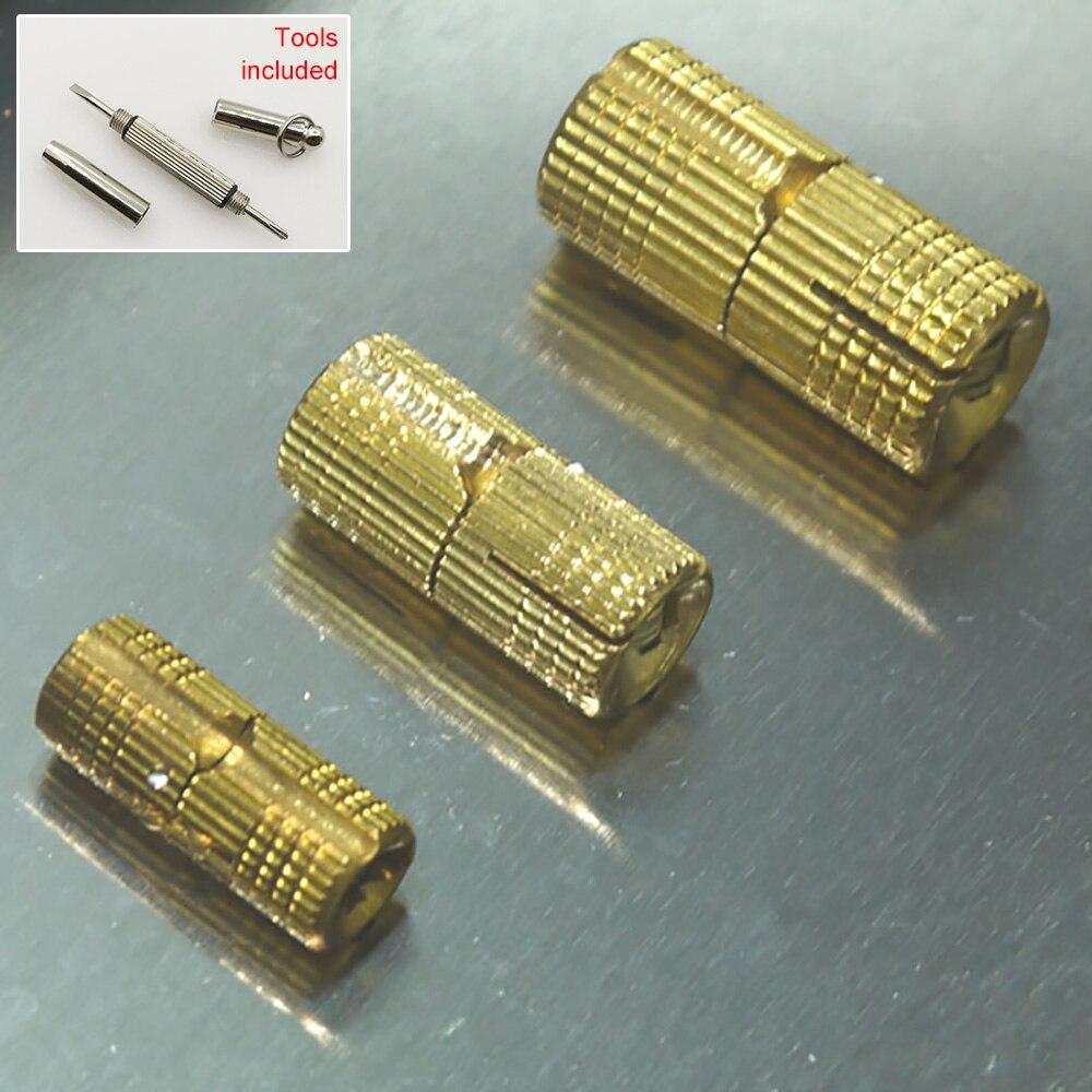 4pcs Ch14 M14 Diameter 14mm Wood Diy Funiture Full Brass