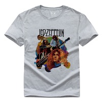Led Zeppelin Pure Cotton Round Collar Men S Short Sleeve T Shirt 009