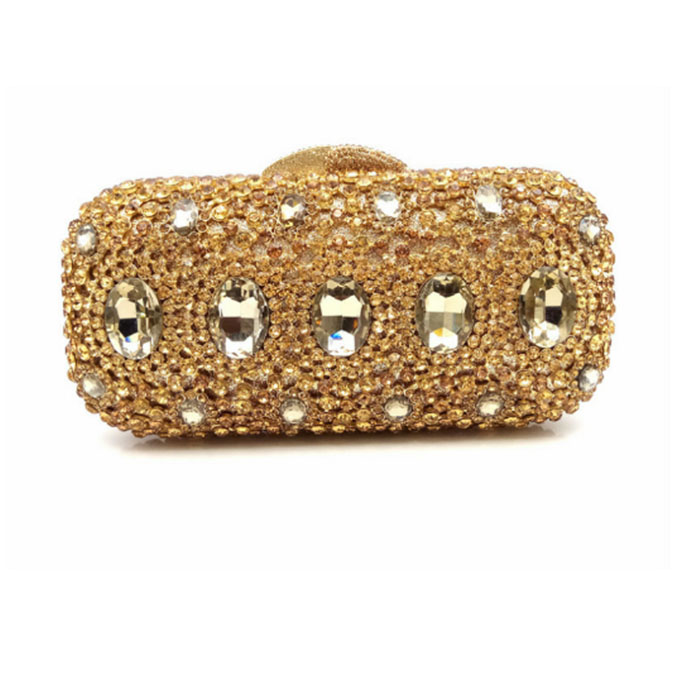 Luxury gold Crystal diamond Evening Purse Handcraft Rhinestones Party Clutch Bags Soiree Sac Pochette Women Wedding Bride Pouch luxury crystal pearl clutch party evening bags women pochette soiree purse crystal bead wedding pouch bags green pink blue red