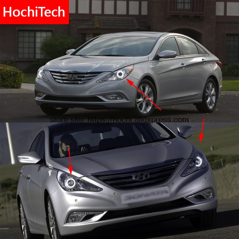 For Hyundai Sonata I45 2009-2014 COB Led Day Light White Halo Cob Led Angel Eyes Ring Error Free Ultra Bright