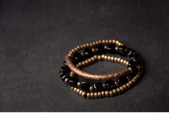 2019-New-Cubic-Black-Obsidian-Multi-row-Bracelet-With-Antique-Finish-Copper-Accessories-Men-Women-Couple-Jewelry-Punk-Street (12)