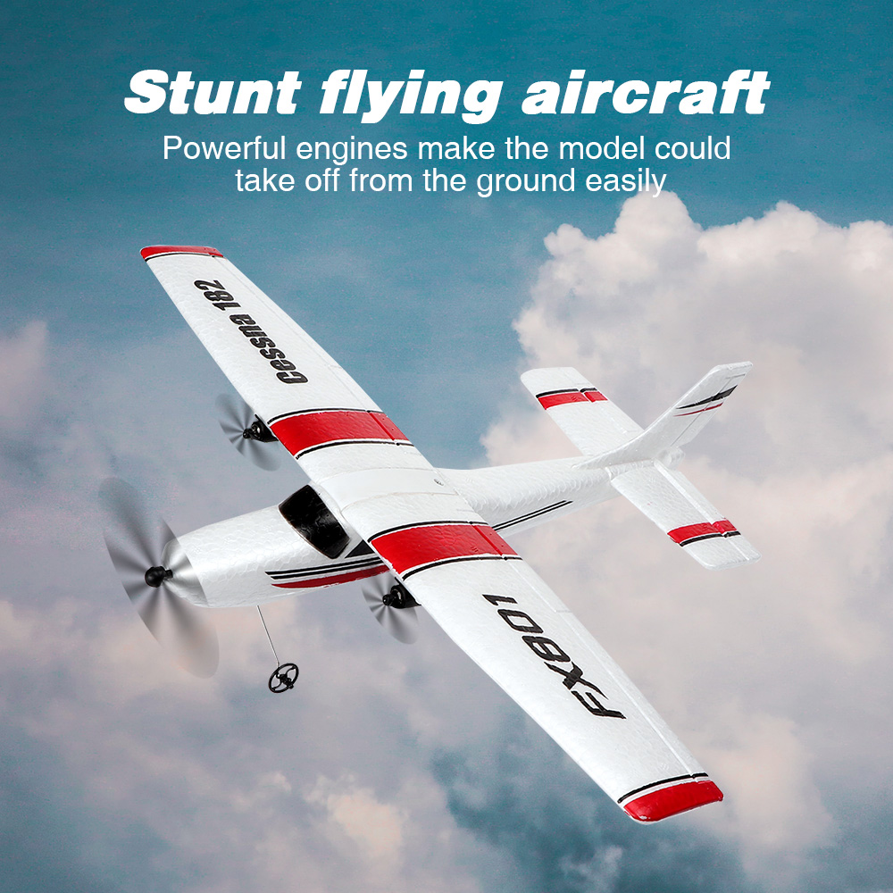 DIY RC <font><b>Plane</b></font> Toy EPP Craft Foam Electric Outdoor RTF Radio Remote Control Tail Pusher Quadcopter Glider Airplane Model for Boy image