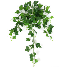 110cm 8 Forks Simulation Creeper Green Plants For Home Garden Window Stairs Decoration Artificial Vines Ratten Plant