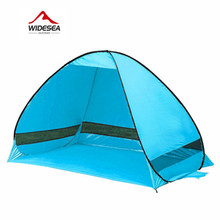 2017 Widesea beach tent 3-4 person 5colors pop up open sunshelter quick automatic 170T polyester UV-protective camping fishing