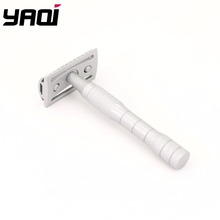 Yaqi Silver Color Painting Stainless Steel Handle 3 pcs Men Safety Razor цена