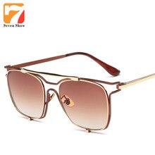 Fashion Square gafas de Sol Mujeres Hombres Diseñador de la Marca de La Vendimia Gafas de Sol Para Hombre Mujer de Gran Tamaño Shades Gafas De Sol UV400