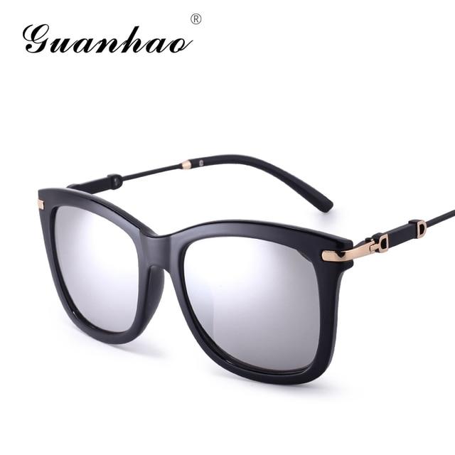 GUANHAO 2018 marca mujeres gafas de sol UV protección HD ver gafas para las  mujeres moda e61b31f4b69c