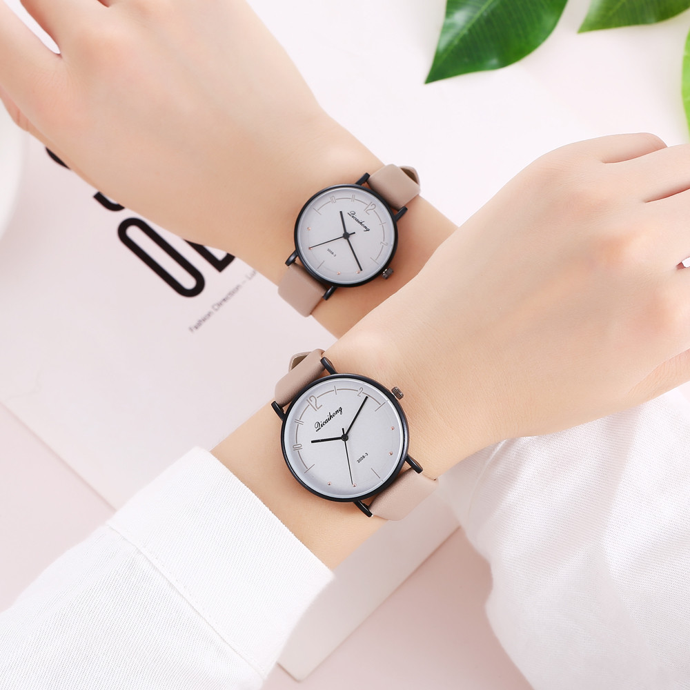 Couple Watches Fashion 2pcs/set Lovers Watches Casual And Quartz Dial Clock Leather Wrist Watch Stainless Steel Dropshipping A40