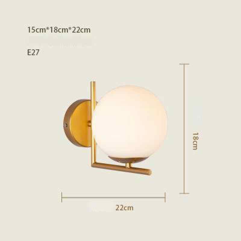 Postura moderna simples sala de estar, lâmpada de parede criativa para quarto, lateral da parede, luz nórdica, corredor, varanda, iluminação de vidro