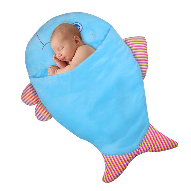 Shark Baby Sleeping Bag Plush Thick Cotton Baby Girl&Boy Cartoon Sleeping Bag For Babies Sac Couchage Enfant Sac De Couchage
