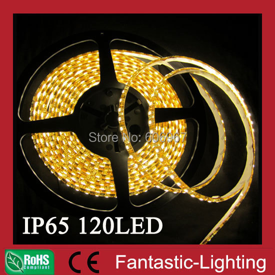 5M 3528 SMD LED Flexible Strip 600leds IP65 120leds/Meter Silicone outdoor light Waterproof