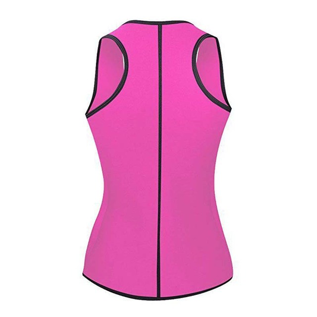 Neoprene Sauna Body Shaper Sweat Slimming Tops Zipper Adjustable Waist Shaper Vest Waist Trainer Shapewear Modeling belt 2