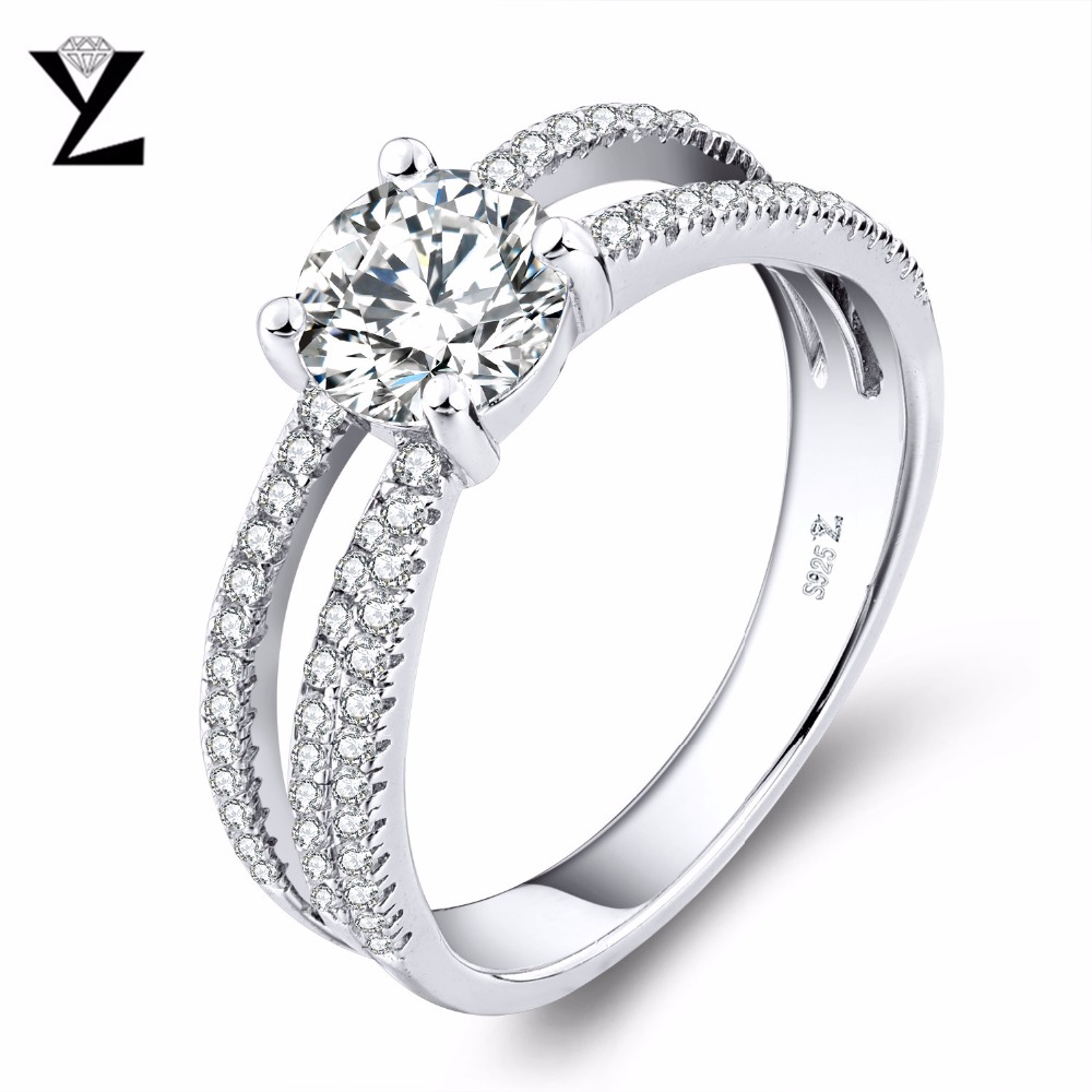 YL 925 Sterling Silver Topaz Rings Women Wedding Fine
