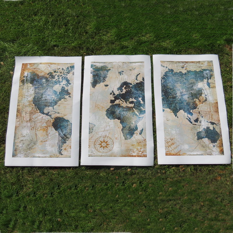 3Panel Watercolor World Map Modular Painting Posters and Prints on Canvas Scandinavian Cuadros Wall Art Picture 3Panel Watercolor World Map Modular Painting Posters and Prints on Canvas Scandinavian Cuadros Wall Art Picture For Living Room