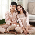 Silk Sleepwear Pajama Sets Couples Silk Satin Solid Fashion Home Apparel Lover Nightwear Couple Sleepwear Pajamas Loungewear